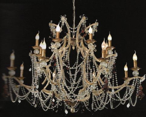 Lampadario Rosa Cristallo : Lampadari a goccia di cristallo antichi lampadari di murano usati